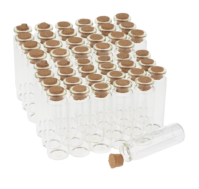 """VBS Glasfläschchen mit Korken """"20 ml"""" 48 Stück"""