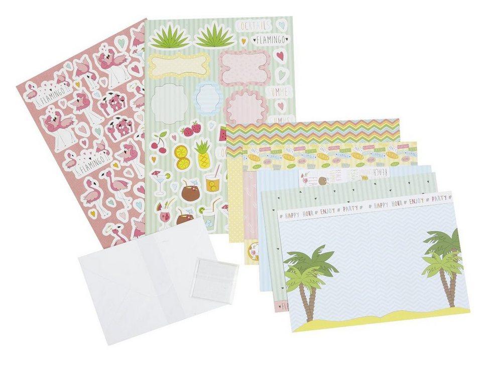 """URSUS Karten Bastel-Set """"Flamingo"""" 5 Karten kaufen"""