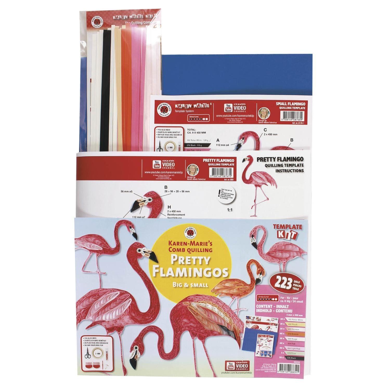 "Karen Marie Klip Quilling-Set ""Flamingo"" 227 Teile"