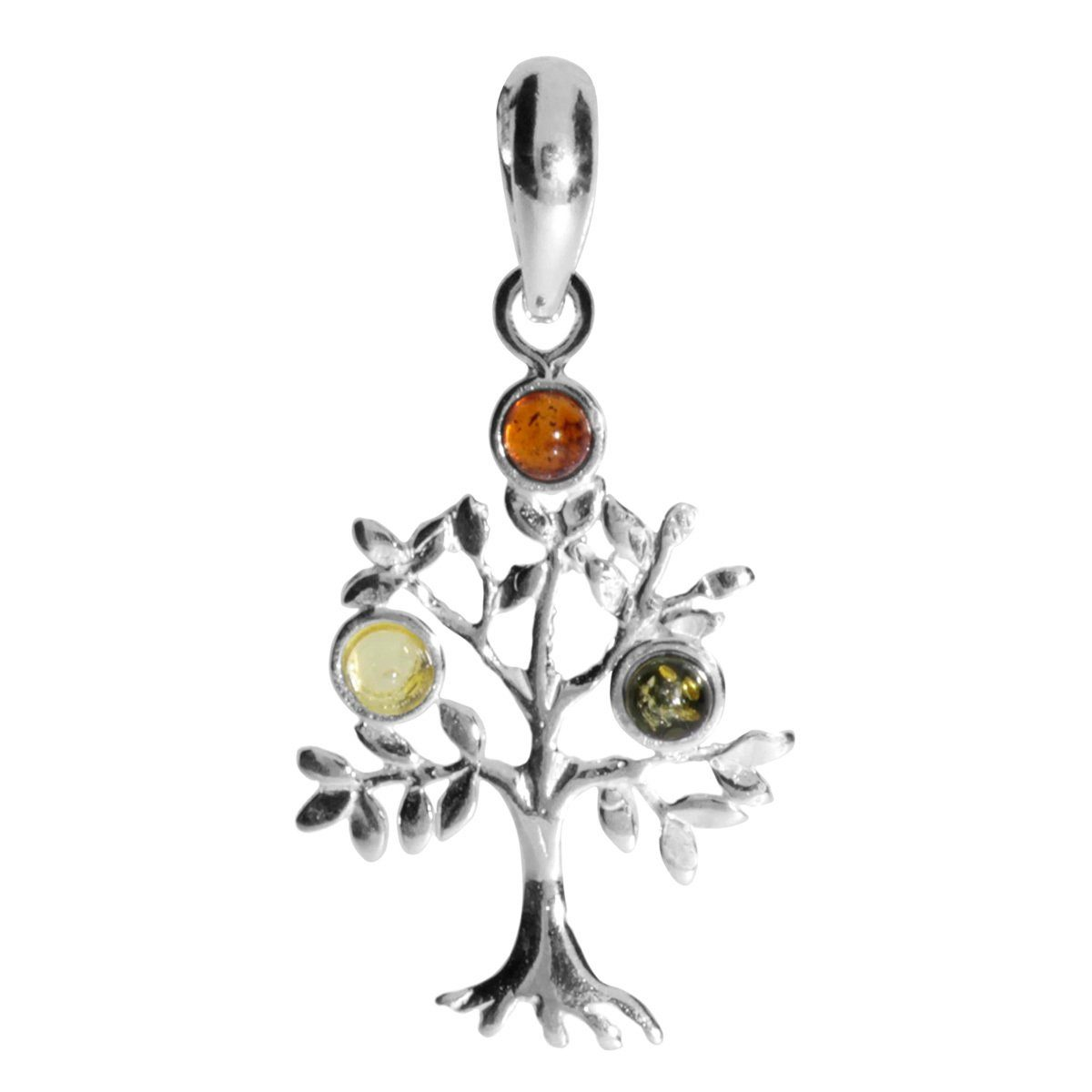 OSTSEE-SCHMUCK Kettenanhänger »Lebensbaum Silber 925/000 Bernstein«