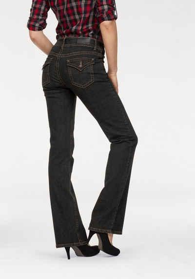 Arizona Bootcut-Jeans »Shaping Jeans von ARIZONA -schummelt einen Traum-Po« 6306213a10