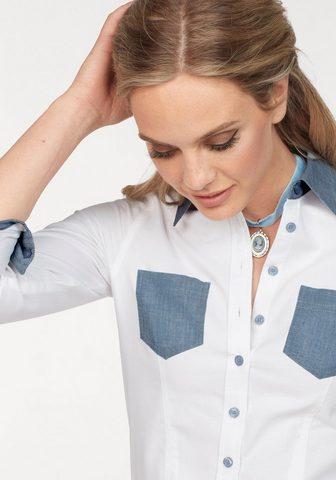 Блузка »mit вставка в джинсы ими...