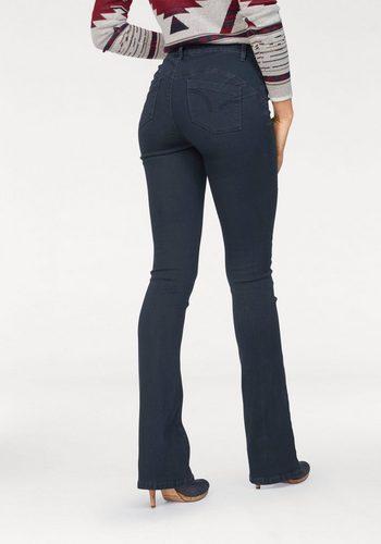 Damen Arizona Bootcut-Jeans Shaping-Bund High Waist, Super- Soft-Touch Denim blau | 06928893781940