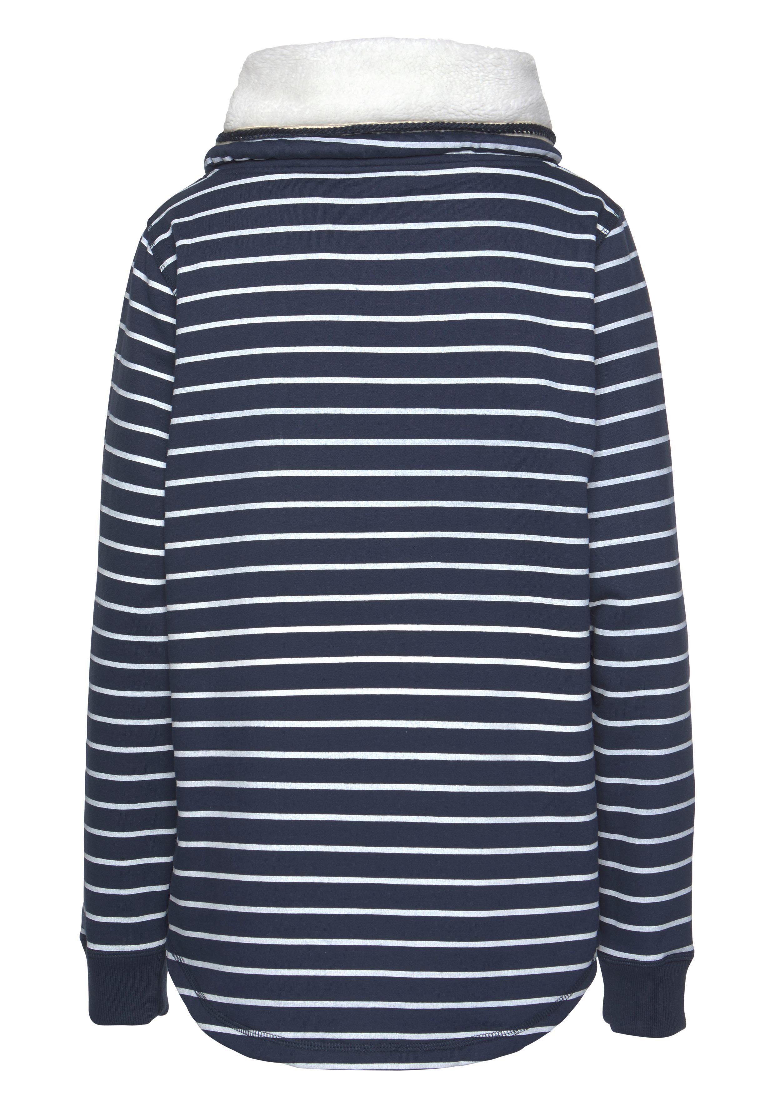 Gemütlicher Sportswear Sweatshirt Hoher Extra Gefüttert Kragen Ocean Teddyplüsch Mit xI7dq17S