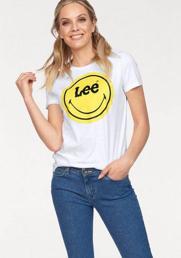 Lee® T-Shirt mit großem Smiley-Frontprint
