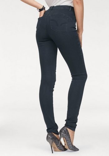 Damen Arizona Skinny-fit-Jeans Shaping- Bund High Waist, Super-Soft-Touch-Denim blau | 06928893782190
