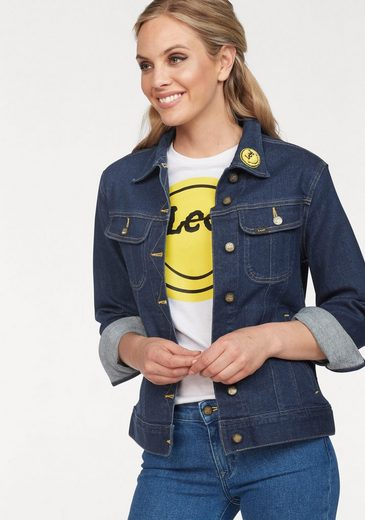 Lee® Jeansjacke mit großem Smiley-Print