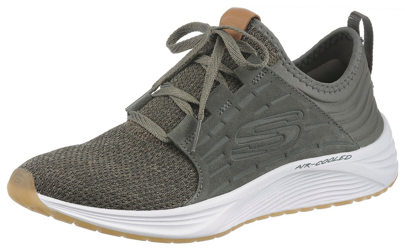 Damen Skechers Skyline Slip-On Sneaker in modischer Strick-Optik grün | 00192283256905