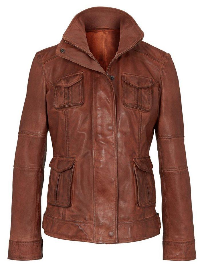 weltweit verkauft Weg sparen zum halben Preis heine CASUAL Lederjacke mit aufgesetzten Taschen | OTTO