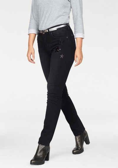 a101cfb2b4e27f ANGELS Stretch-Jeans »Cici Starlet« Sternchenbesatz vorne und hinten