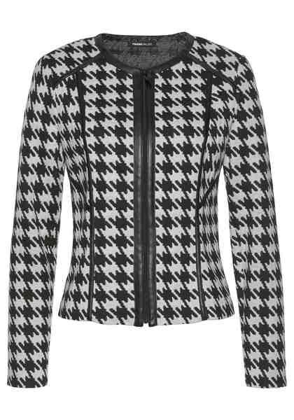 FRANK WALDER Jackenblazer aus Sweatware mit Hahnentritt-Muster