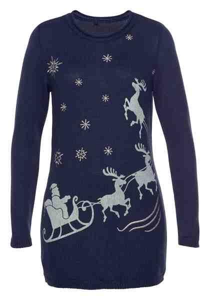 Boysen's Longpullover mit Weihnachtsmotiv