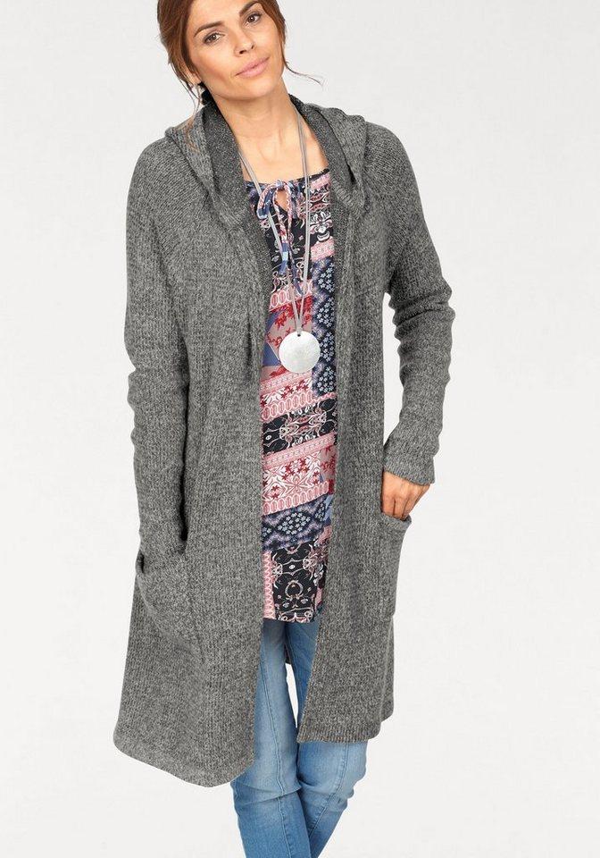 hot sale online 1d213 0485d Boysen's Strickjacke »Oversize« in modischer Longform mit Kapuze online  kaufen | OTTO