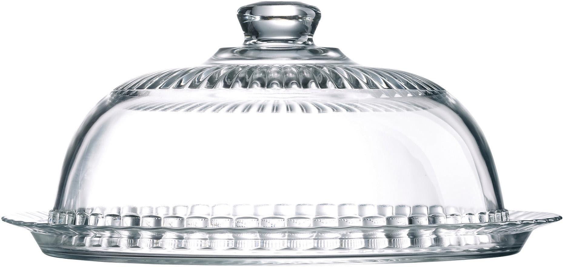 Luminarc Tortenplatte mit Glocke, Glas