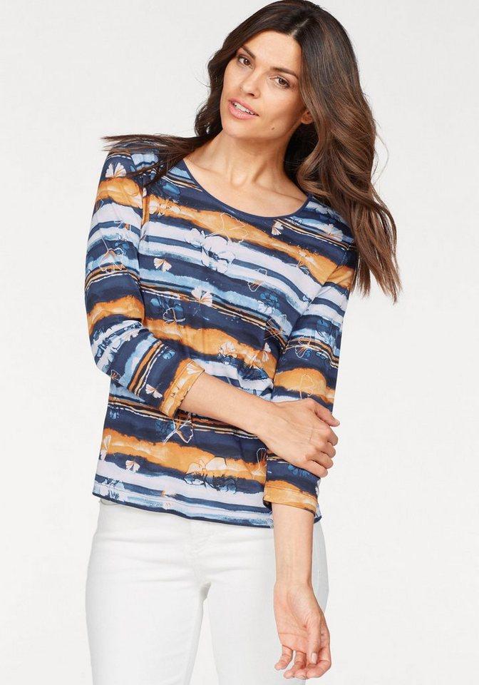 Rabe Print-Shirt mit Allover-Print und Ziersteinen | Bekleidung > Shirts > Print-Shirts | Bunt | Rabe