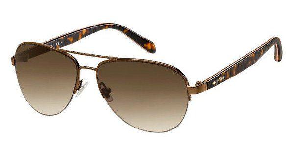 Fossil Damen Sonnenbrille » FOS 3062/S«, braun, 0E1/CC - braun/braun