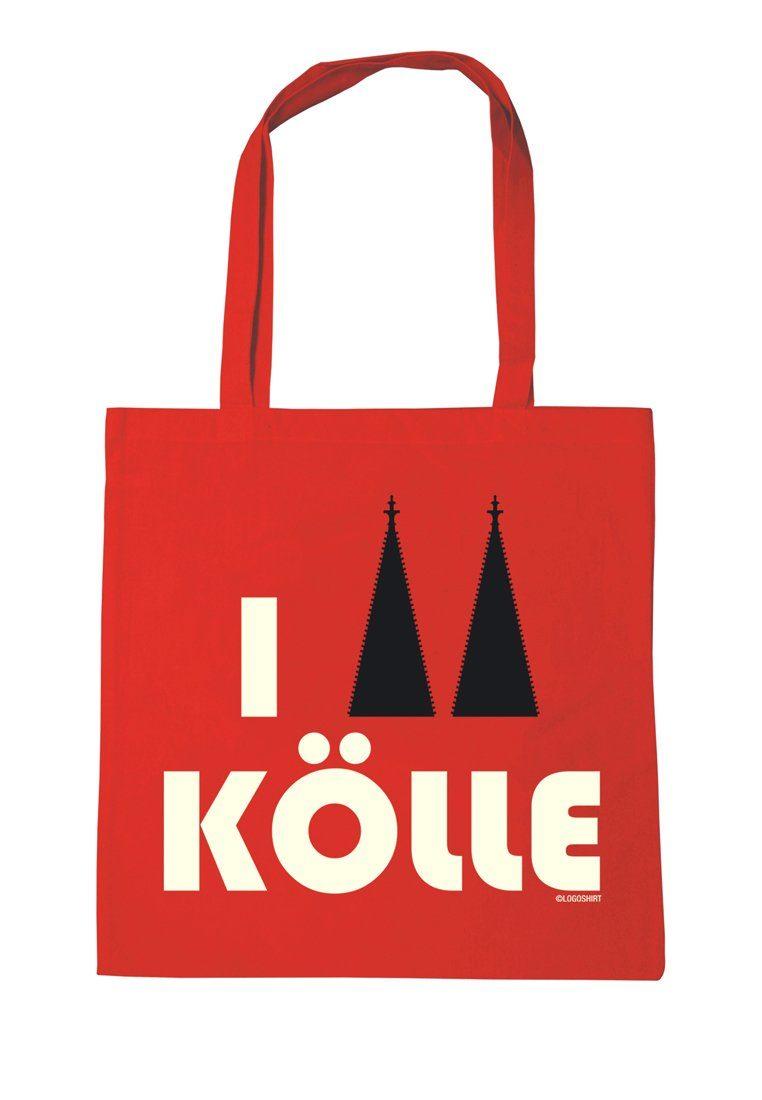 LOGOSHIRT Baumwolltasche mit I Love Kölle-Print