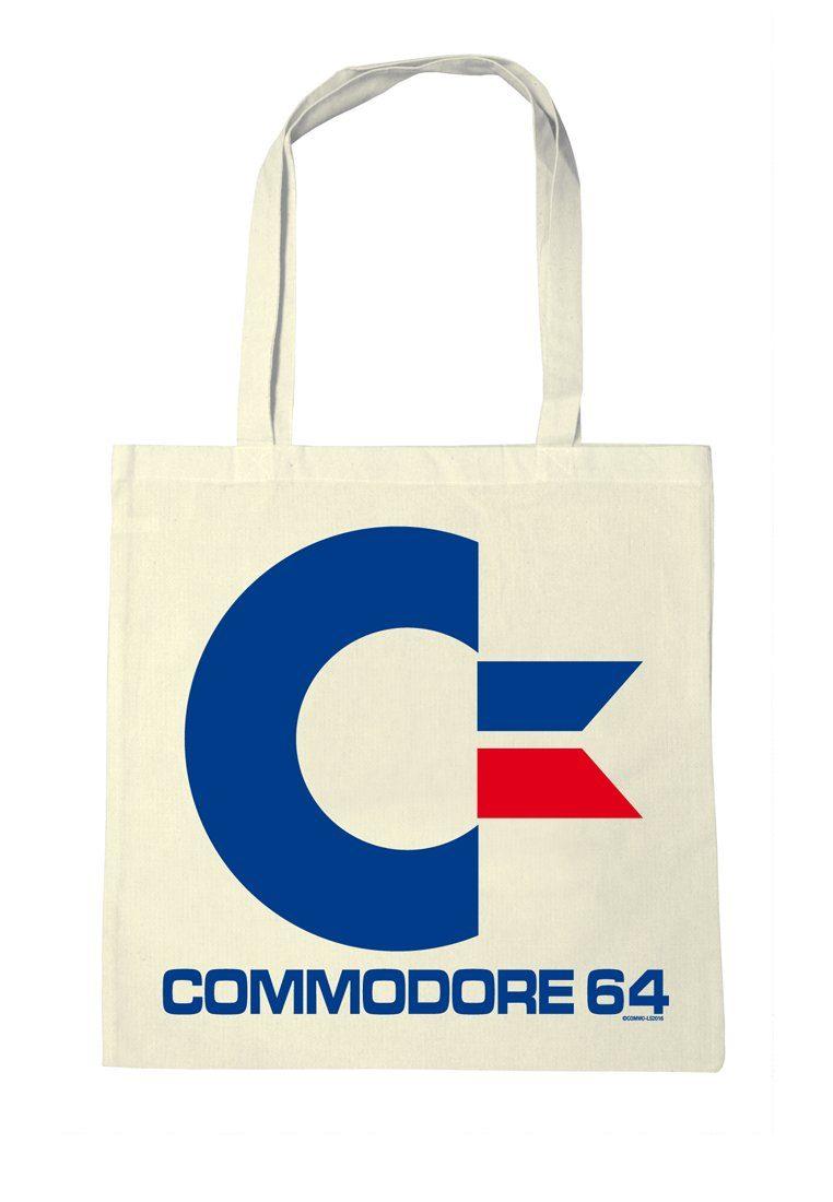 LOGOSHIRT Stofftasche mit Commodore-Druck