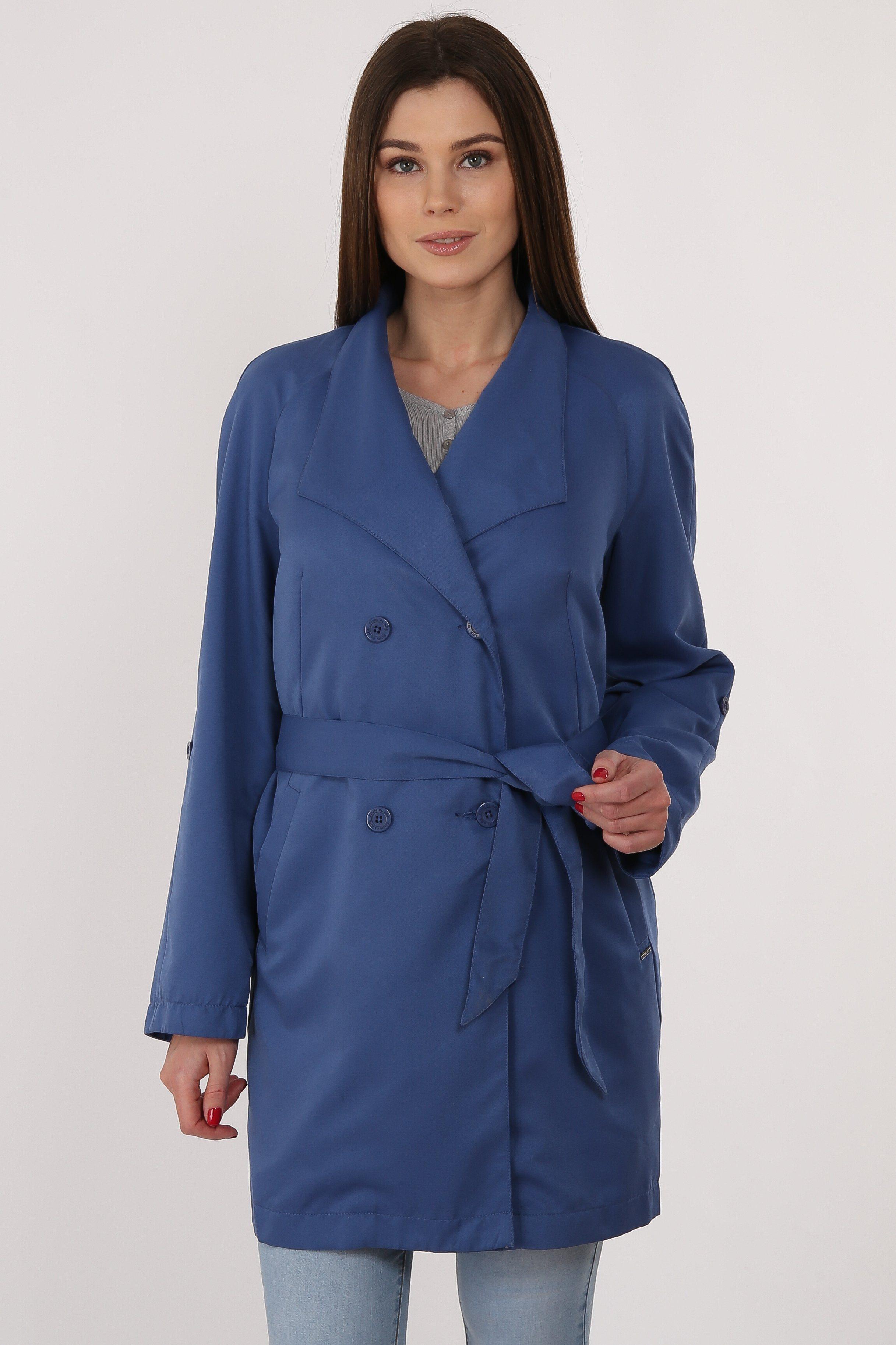 Finn Flare Trenchcoat mit zweireihiger Knopfleiste | Bekleidung > Mäntel > Trenchcoats | Polyester - Jeans | Finn Flare