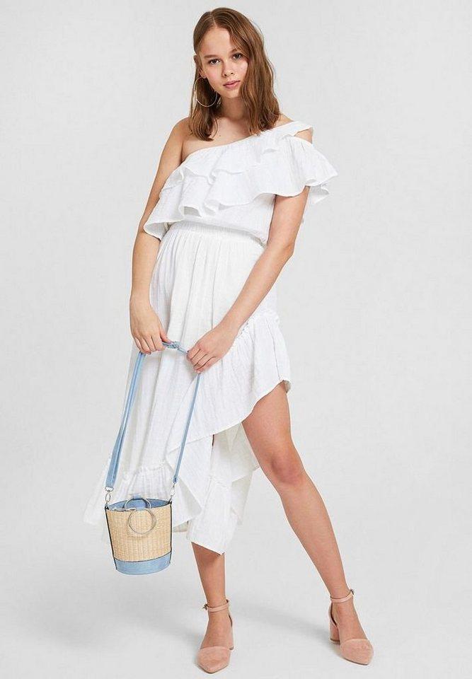 OXXO One-Shoulder-Kleid mit einseitig schulterfreiem Look | Bekleidung > Kleider > One Shoulder-Kleider | Weiß | OXXO