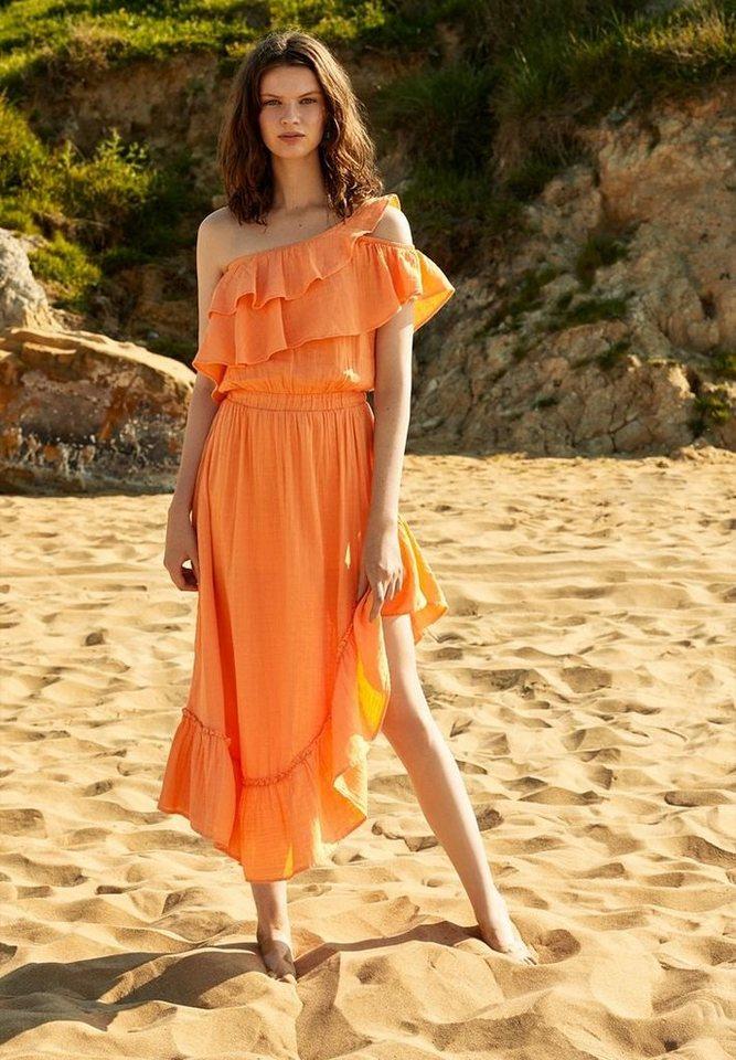 OXXO One-Shoulder-Kleid mit einseitig schulterfreiem Look | Bekleidung > Kleider > One Shoulder-Kleider | Orange | OXXO