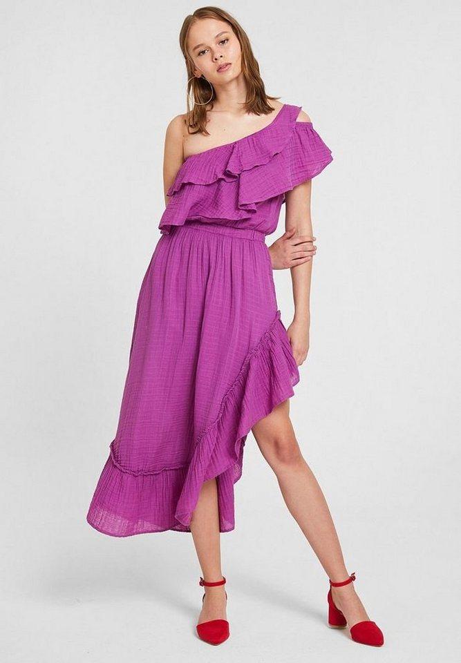 OXXO One-Shoulder-Kleid mit einseitig schulterfreiem Look | Bekleidung > Kleider > One Shoulder-Kleider | Lila | OXXO