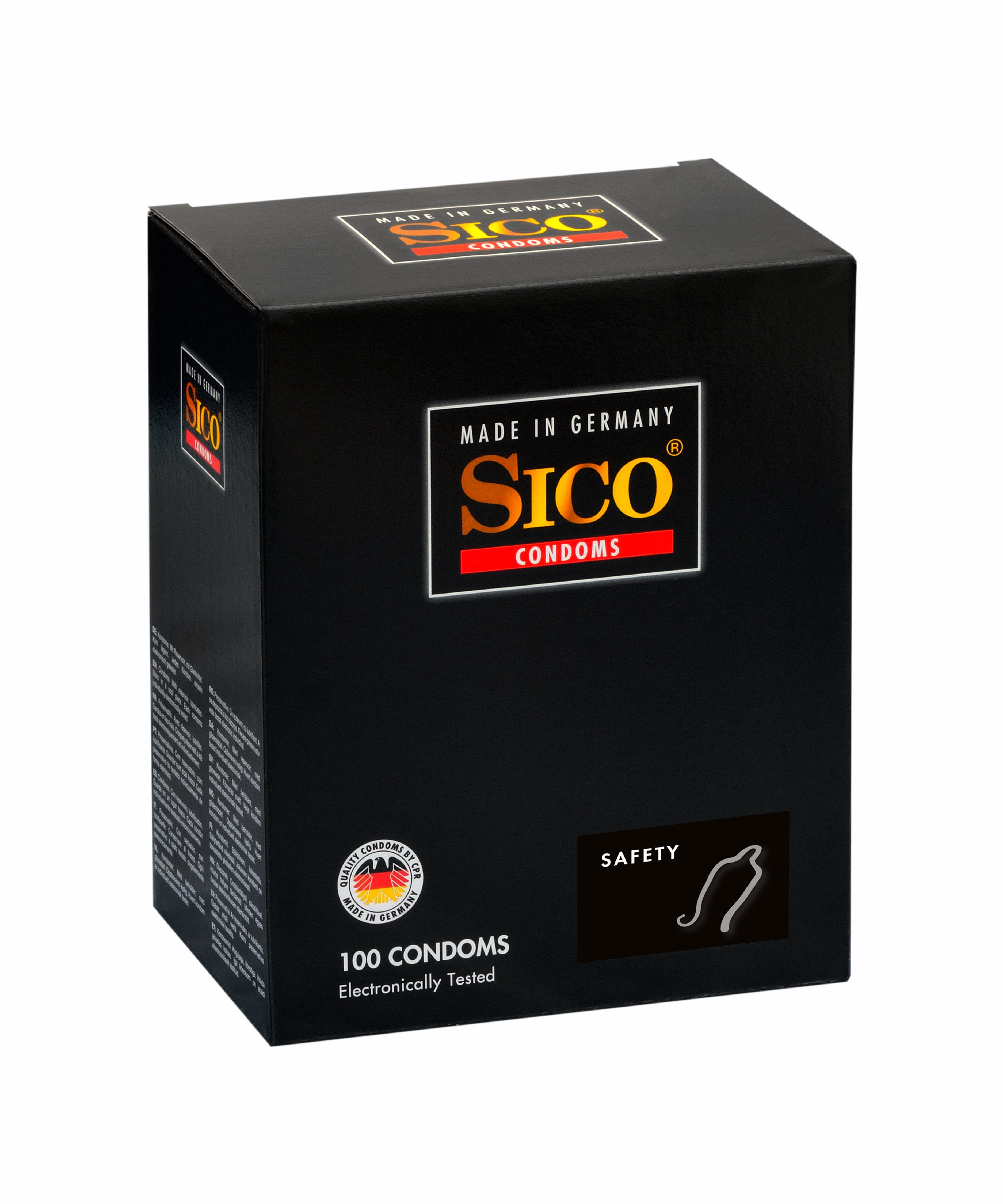SICO 100 Kondome made in Germany »Safety, 100er Box«