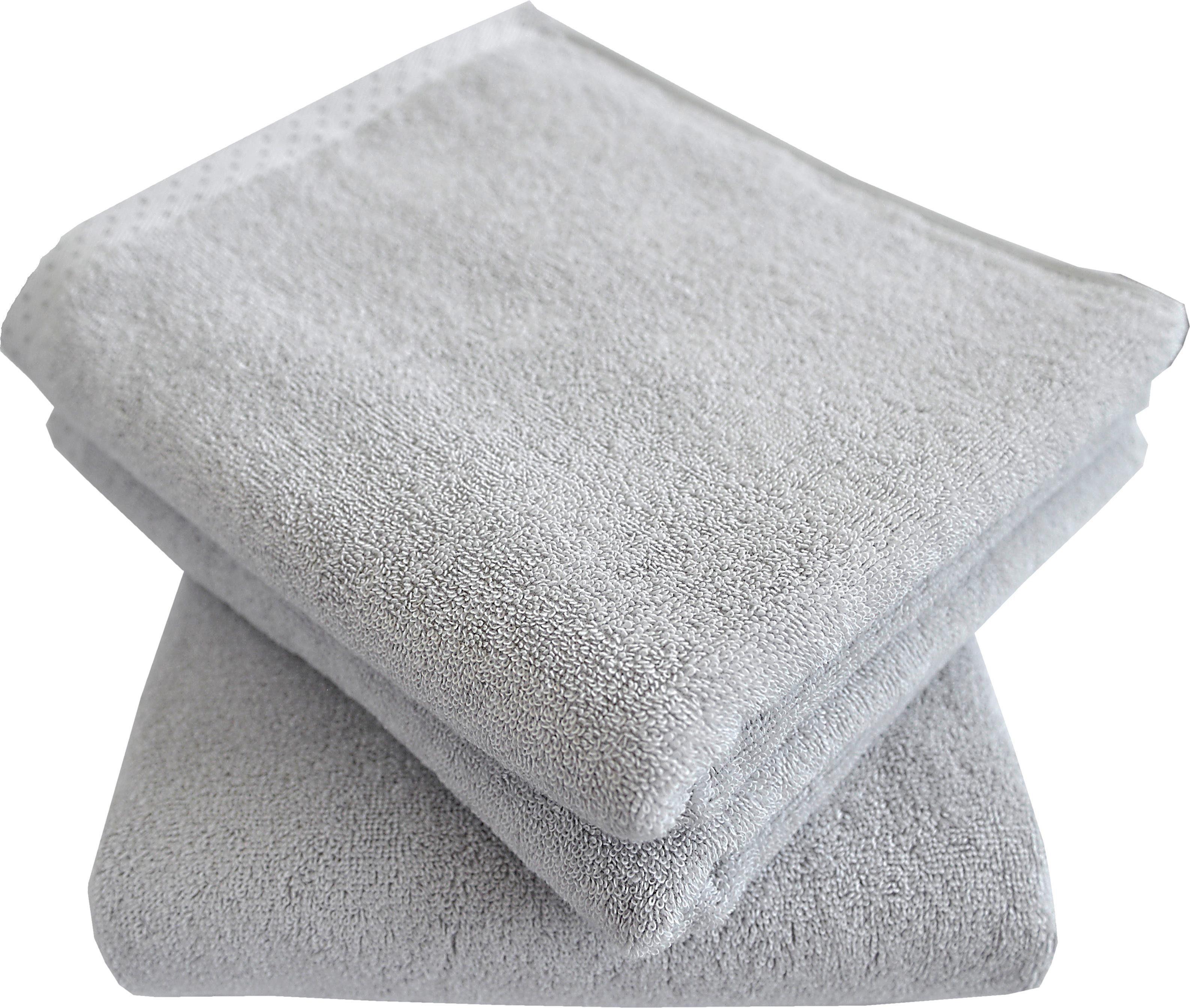 Dyckhoff Handtuch Set »Pünktchen«, mit gemustertem Saumabschluss