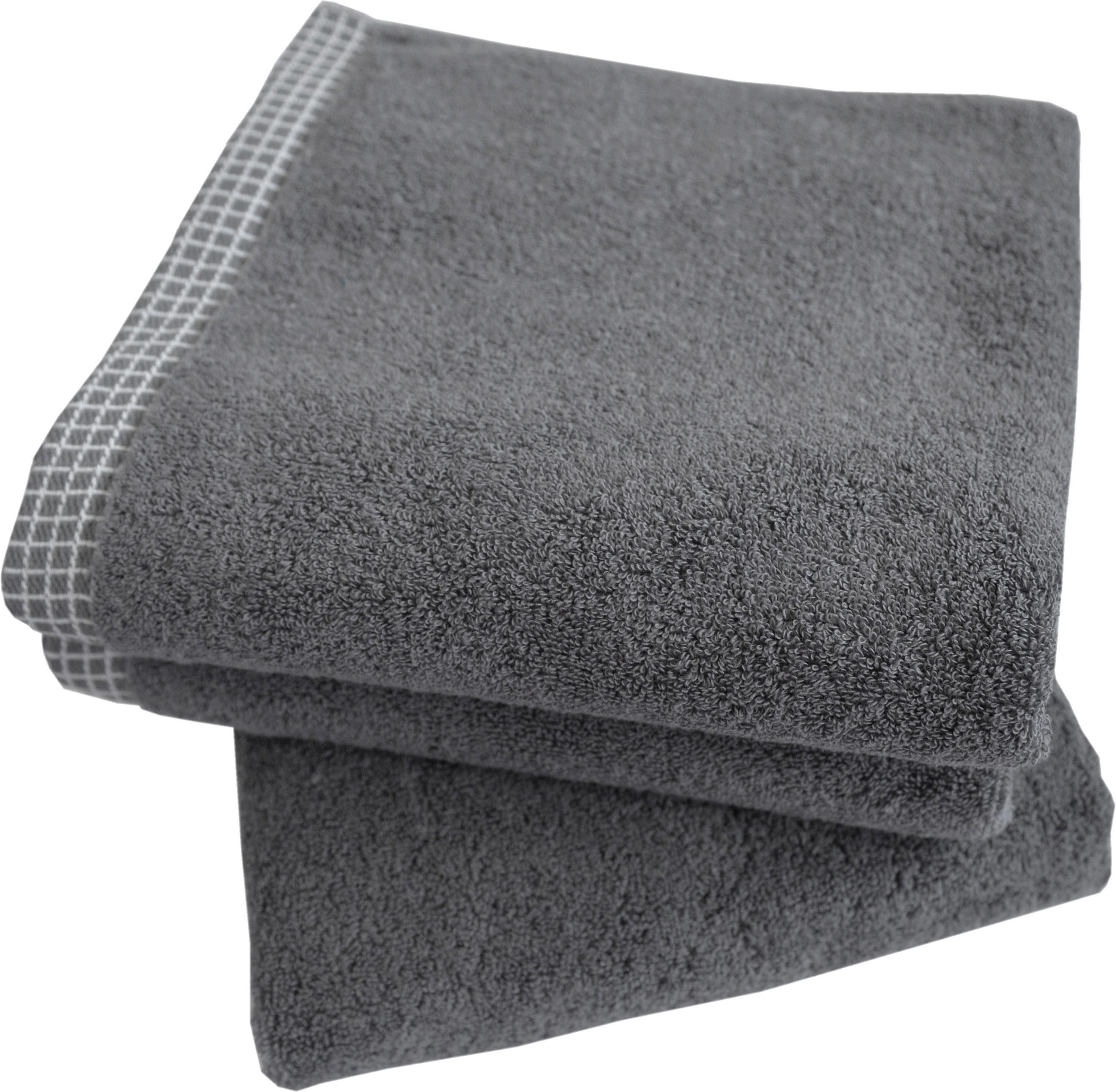 Dyckhoff Handtuch Set »Kachel«, mit gemustertem Saumabschluss
