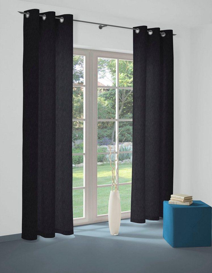 Vorhang Java Wirth Osen 1 Stuck Dark Blue Denim Online Kaufen