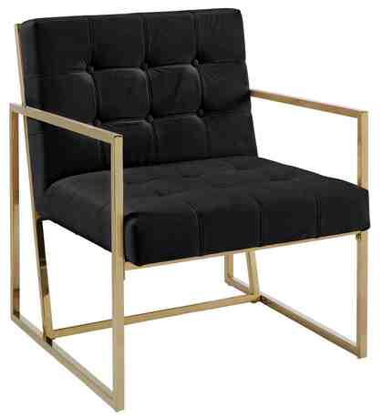 GMK Home & Living Sessel »Silwai«, mit schönem vergoldetem Metallgestell und Samtpolsterung, Sitzhöhe 44 cm