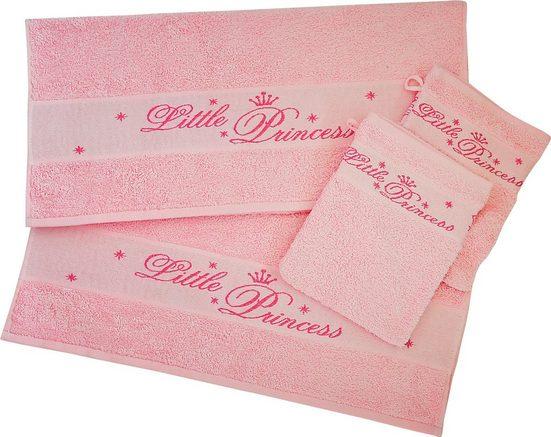 Dyckhoff Handtuch Set »Little Princess«, mit eingewebten Schriftzug