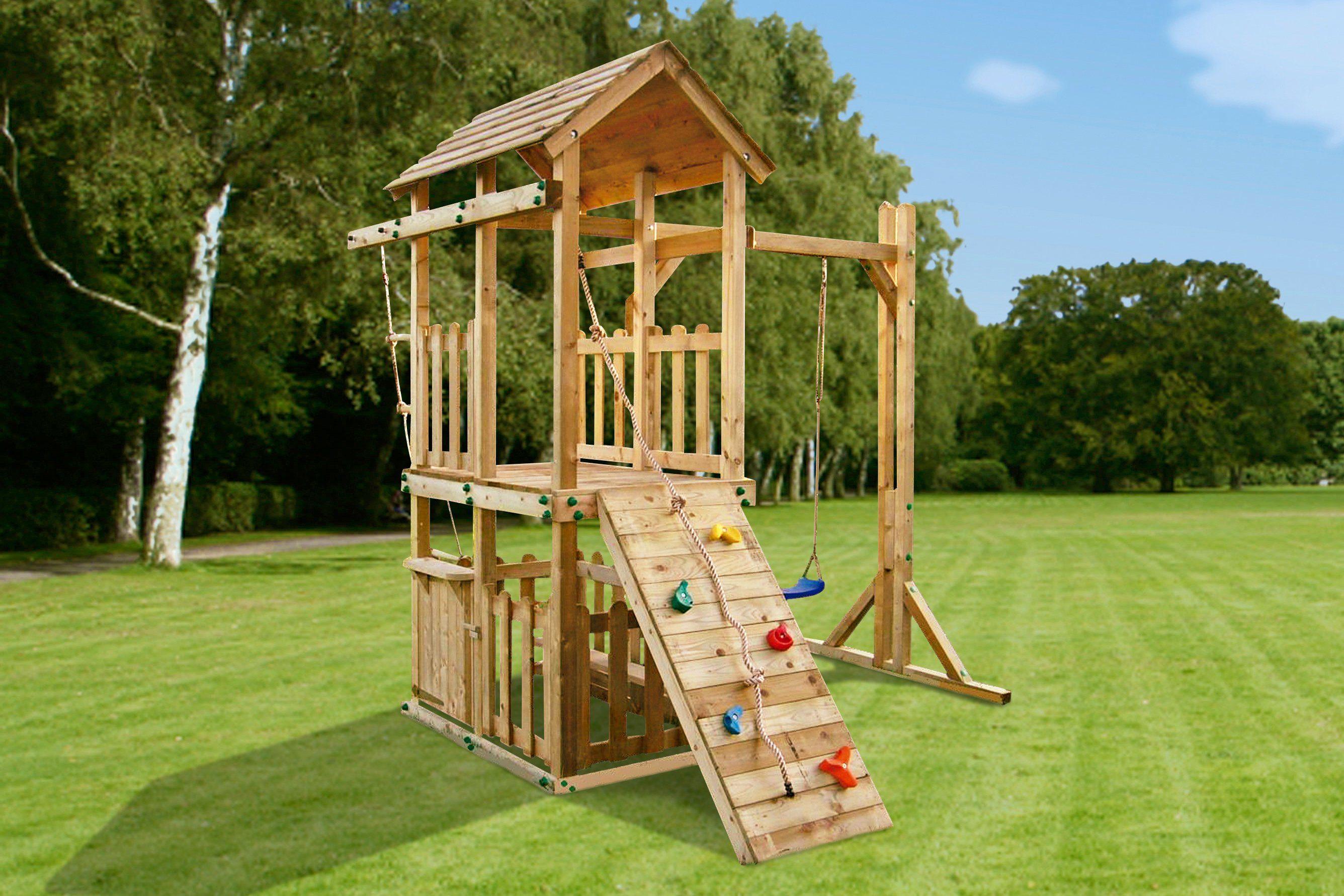 GARTENPRO Spielturm »All in«, BxTxH: 240x250x280 cm