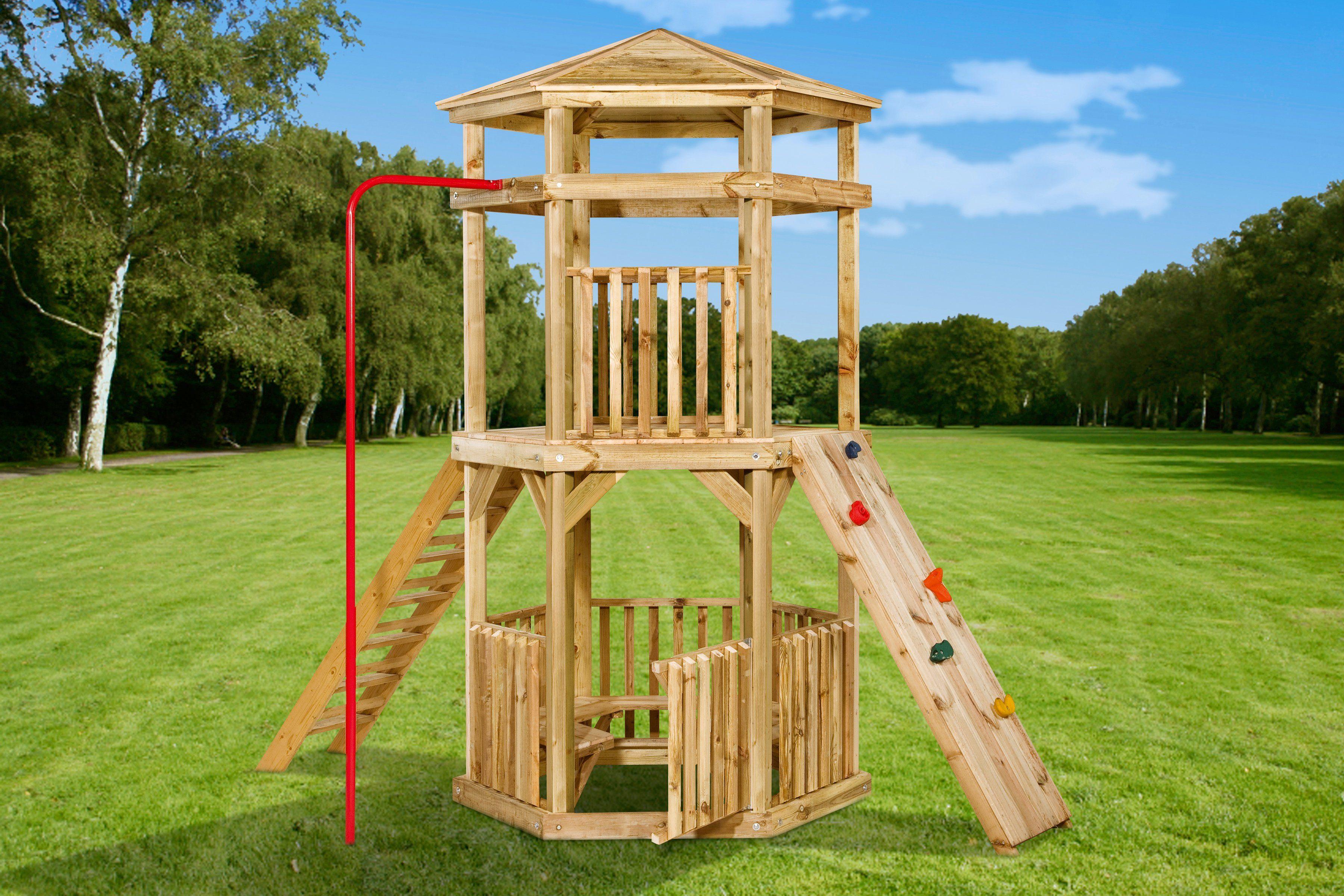 GARTENPRO Set: Spielturm »Climber«, BxTxH: 116x270x307 cm