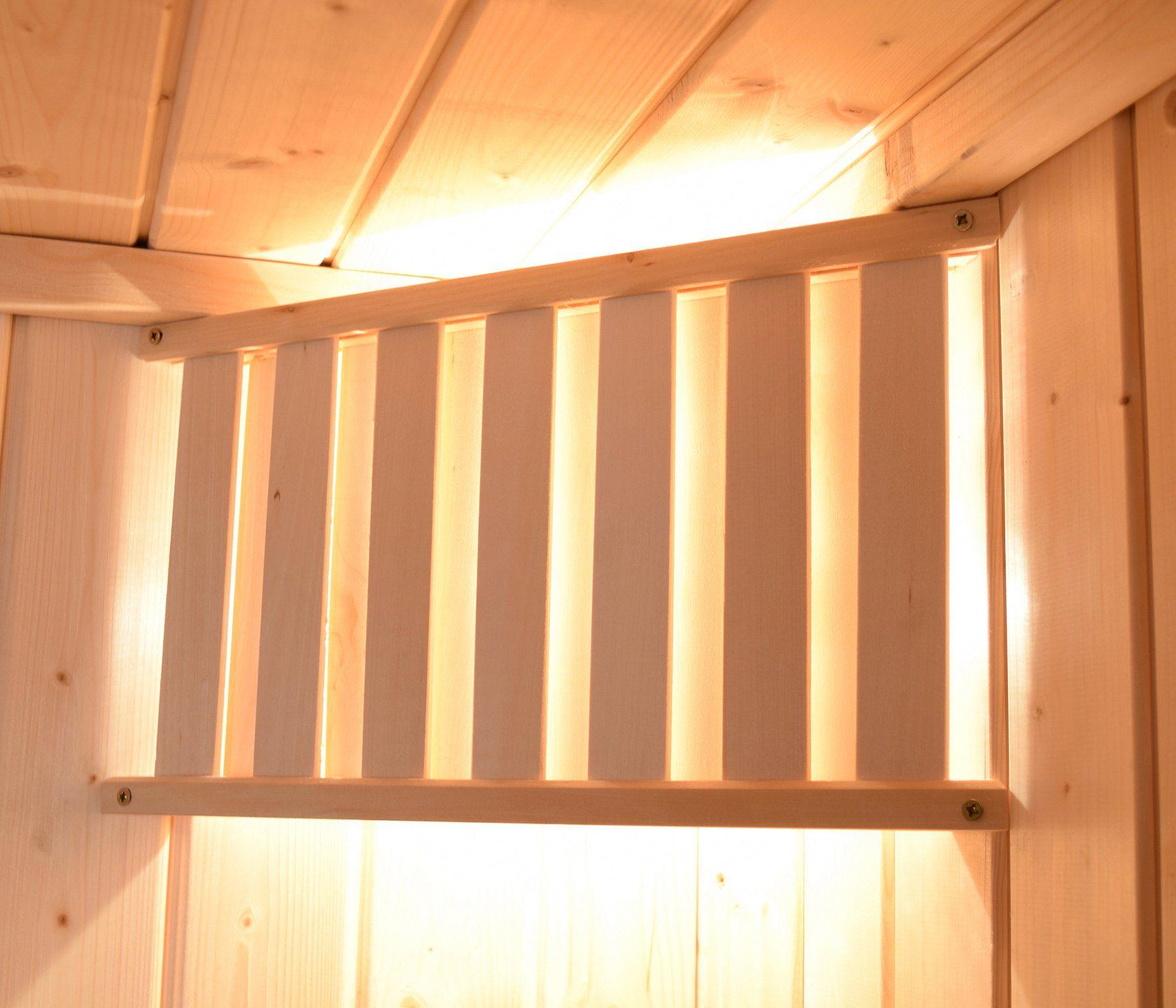 WEKA Sauna »Valida Eck 1«, 189x139x203,5 cm, 5,4-kW-Ofen mit int. Steuerung