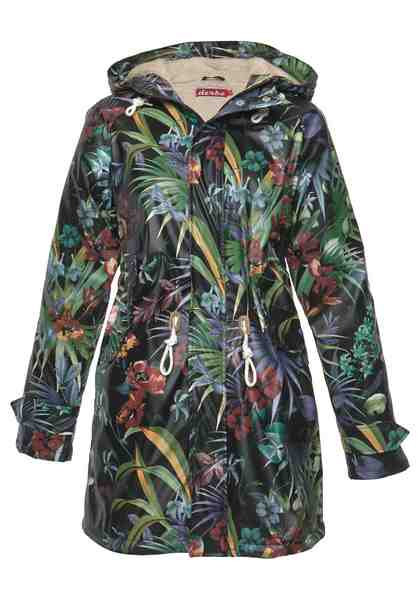 Derbe Regenjacke »Travel Cozy« mit top modischem Alloverprint