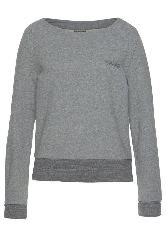 Napapijri Sweatshirt »Bia« mit kleinem Logo-Druck auf der Brust
