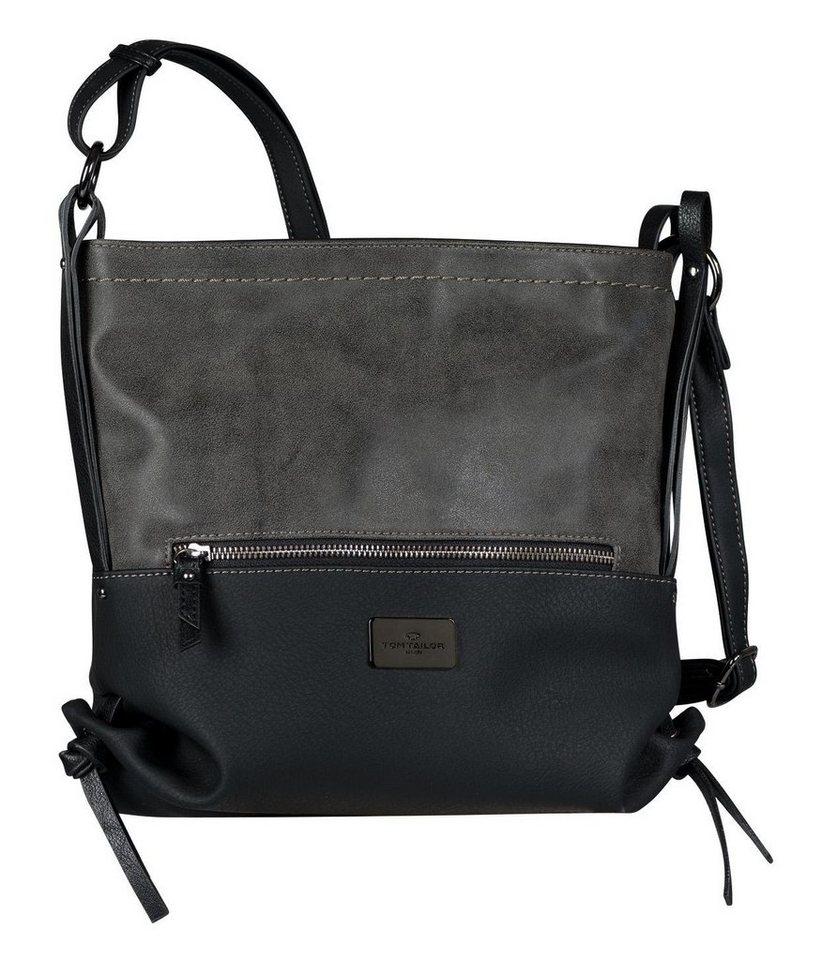 TOM TAILOR Nola Flapbag Umhängetasche Tasche Black Schwarz