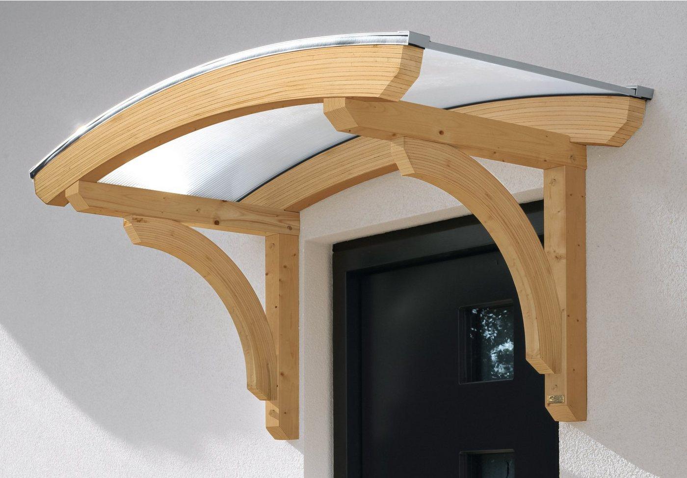 Skanholz Rundbogenvordach »Rostock«, BxT: 174x80 cm, naturfarben | Baumarkt > Modernisieren und Baün > Vordächer | Skanholz
