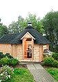WOLFF FINNHAUS Grillkota »9 de luxe«, BxT: 426x630 cm, mit Sauna-Anbau und schwarzen Schindeln, Bild 1