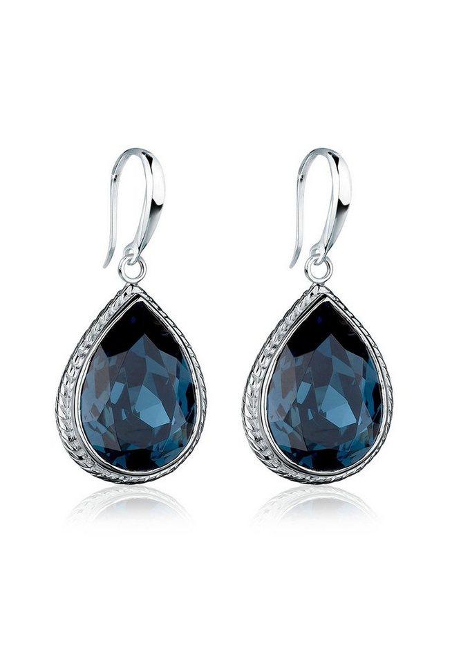 Elli Paar Ohrhänger »Tropfen Swarovski® Kristalle Elegant 925 Silber ...