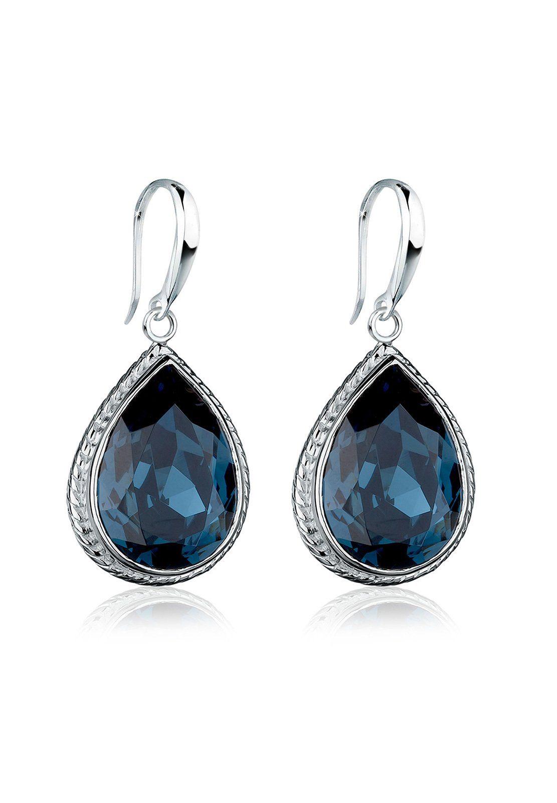 Elli Paar Ohrhänger »Tropfen Swarovski® Kristalle Elegant 925 Silber«
