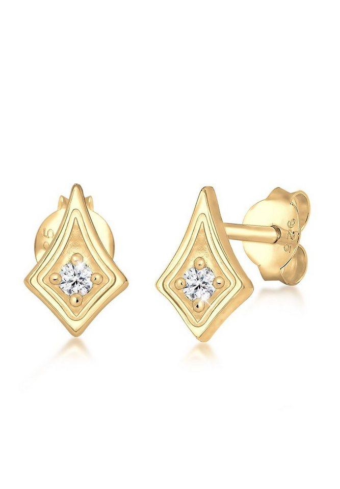 Elli Paar Ohrstecker »Studs Astro Swarovski® Kristalle Trend 925 Silber« | Schmuck > Ohrschmuck & Ohrringe > Ohrstecker | Goldfarben | Elli