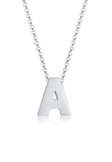 Elli Collierkettchen »Buchstabe A Initialen Minimal 925 Sterling Silber«