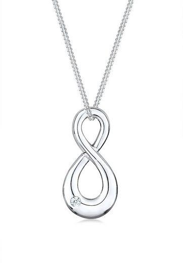 Diamore Collierkettchen »Infinity Love Diamant (0.03 ct) 925 Silber«
