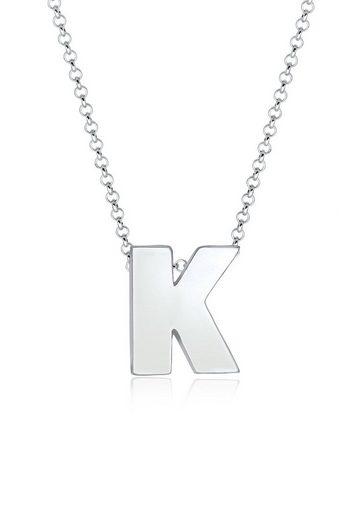 Elli Collierkettchen »Buchstabe K Initialen Trend Minimal 925 Silber«