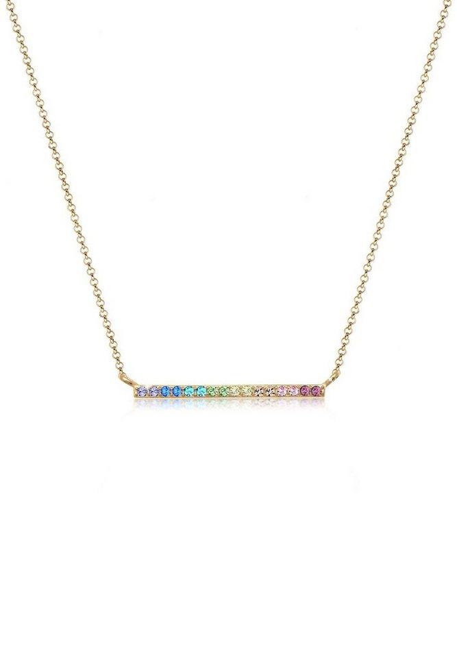 Elli Collierkettchen »Geo Regenbogen Swarovski® Kristalle 925 Silber ... b3e06bdf6c2ef