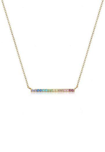 Elli Collierkettchen »Geo Regenbogen Swarovski® Kristalle 925 Silber«