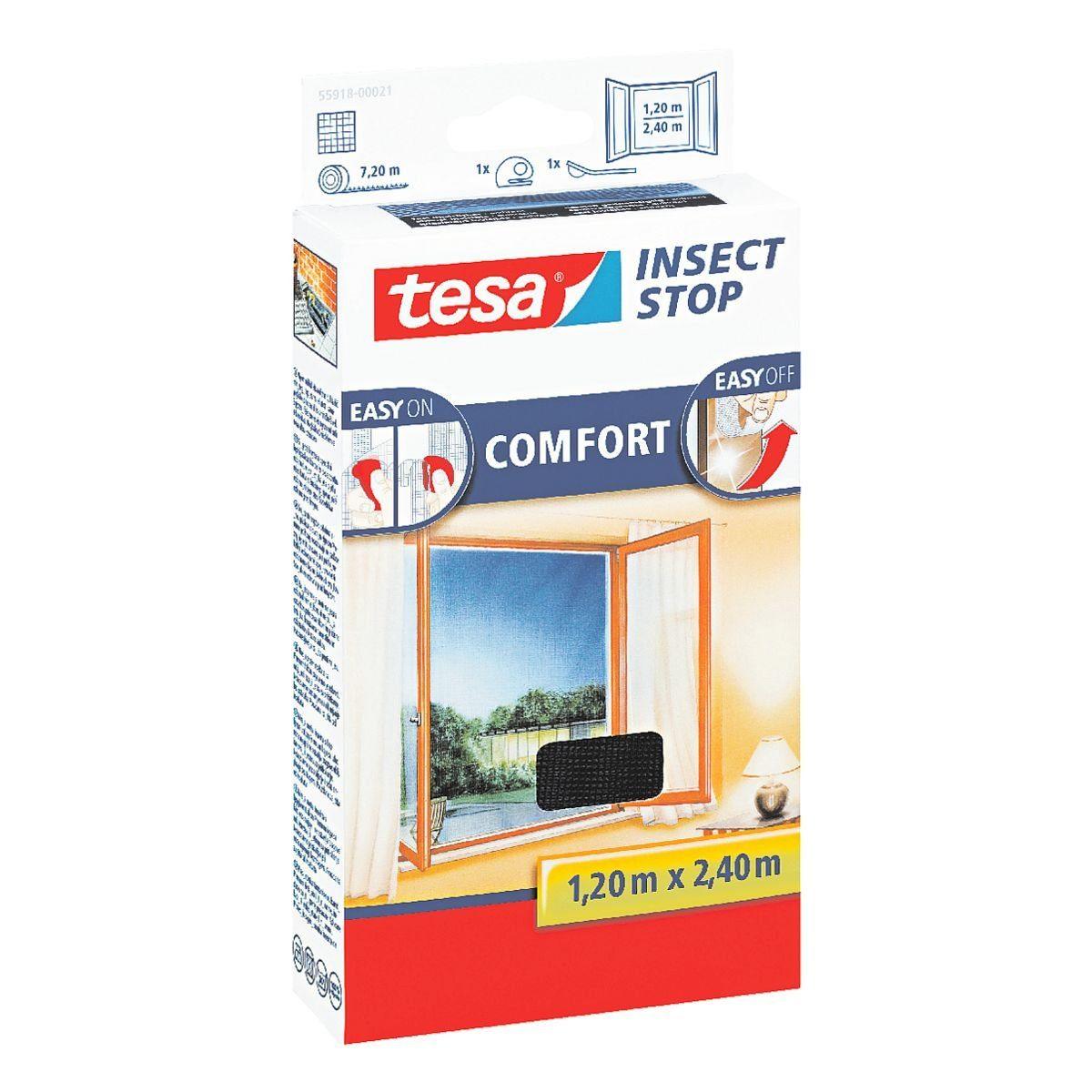 Tesa Fliegengitter 55918 für bodentiefe Fenster »Insect Stop COMFORT«