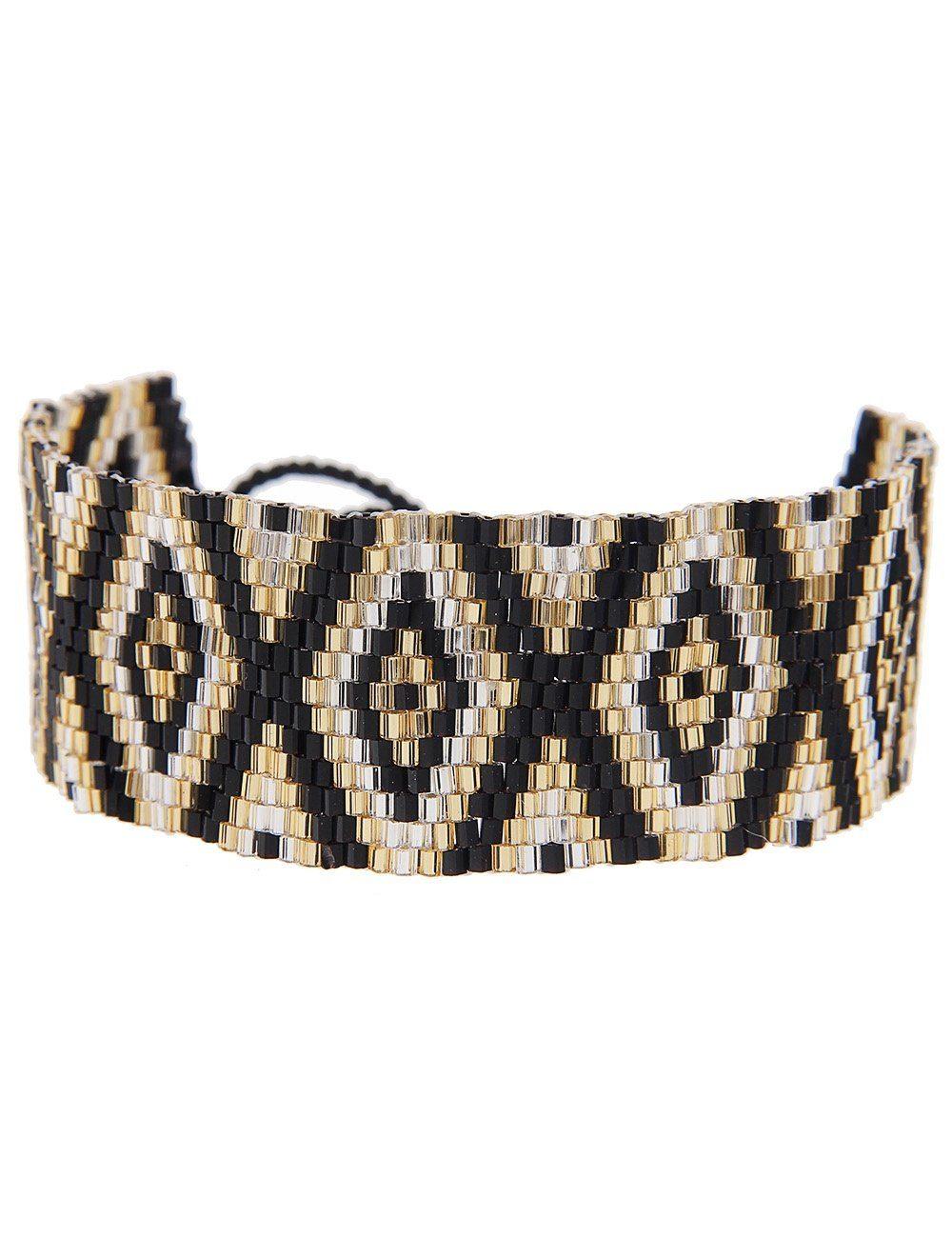 Leslii Armband mit Rauten-Muster